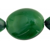 Glass Mixed Strand Earth Green Navette 38x18mm And Stone 22x2